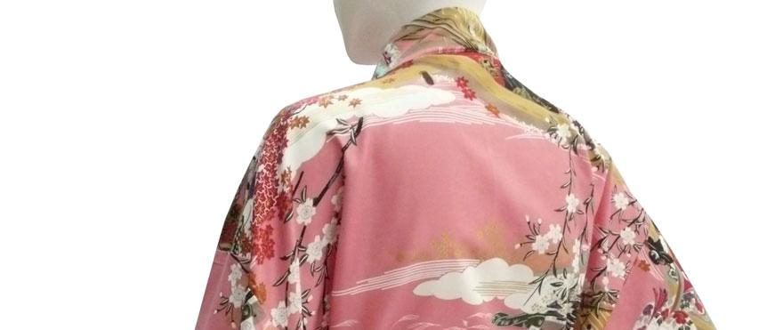 Kimono mit Ukiyoe Motiven