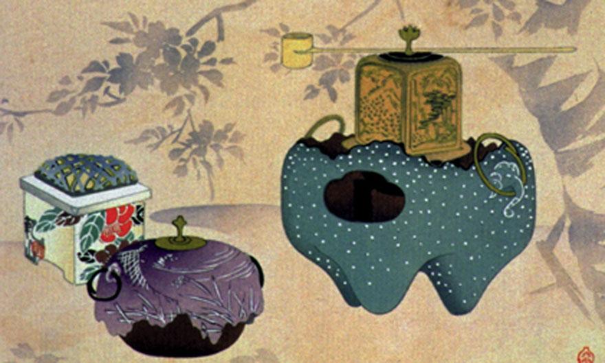 Matcha Besen und Zubehör für die japanische Teezeremonie