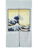 Japanischer Noren Kanagawaoki Hokusai
