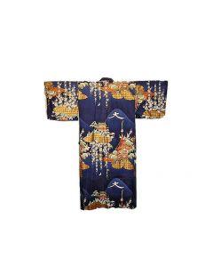 Japanischer Damen Kimono Daimonji blau