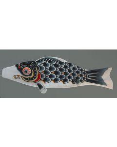 Koinobori schwarz 150 cm - Glückskarpfen