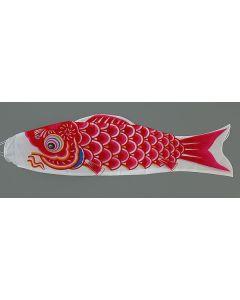 Koinobori rot 120 cm - Glückskarpfen