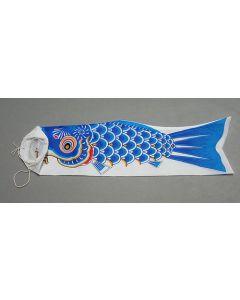 Koinobori blau 55cm - Glückskarpfen
