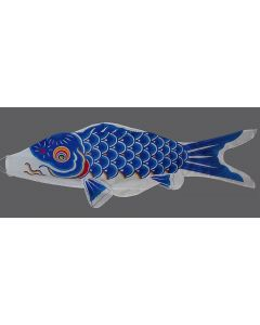 Koinobori blau 200 cm - Glückskarpfen