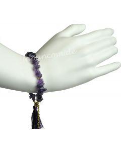 Armband Quarzsteinen mit Quaste