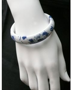 Armreif Porzellan Blauer Lotus