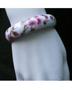 Armreif Porzellan Pflaumenblüten