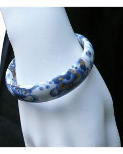 Armreif Porzellan Schmetterling blau