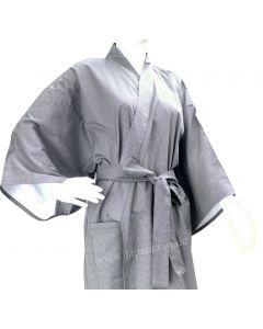 Bademantel Kimono Fundo gefüttert dunkelblau