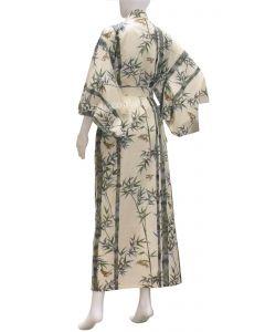 Damen Kimono Bambus beige