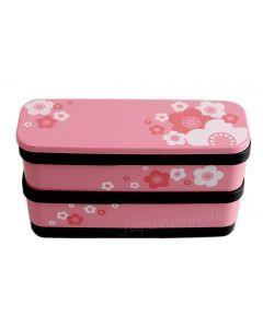 Bento Box Kirschblüte mit Stäbchen pink Lack