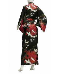 Damen Kimono Tsuru schwarz Gr.S 135cm