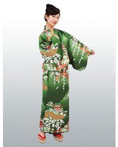 Damen Kimono Daimonji grün