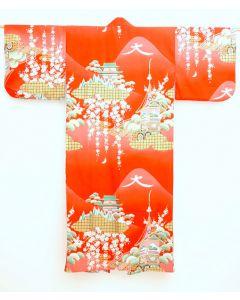 Damen Kimono Daimonji rot