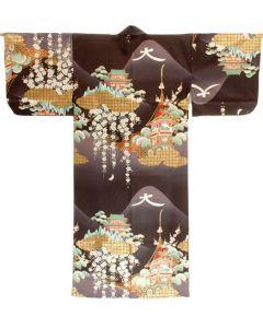 Damen Kimono Daimonji schwarz