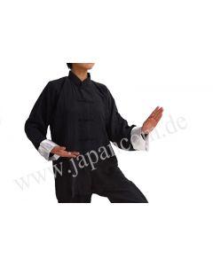 Tai Chi Jacke Yin Yang, schwarz