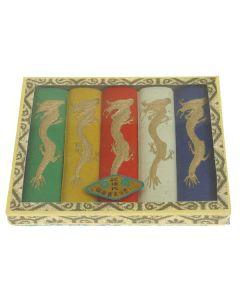 5 farbige Tuschesteine