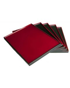 Lack Tablett Japan schwarz-rot, beidseitig nutzbar 36x28cm