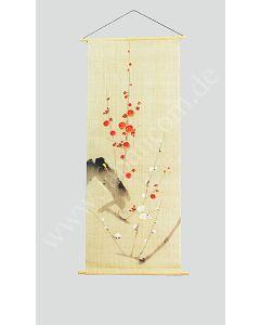 Japan Rollbild Ume (Pflaumenblüte) auf Leinen, Bild 3