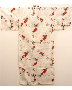 Damen Kimono Kaki Elfenbein