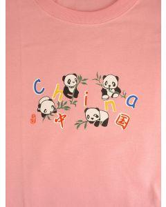 Kinder T-Shirt Panda, rosa