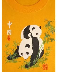 Kinder T-Shirt Panda, gelb