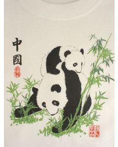 Kinder T-Shirt Panda, weiß