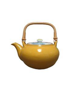 Japan Teekanne Arita Porzellan gelb 600ml