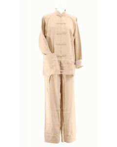Tai Chi Anzug Classic beige