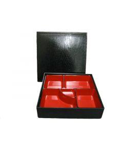 Bentobox Lack schwarz-rot, 3-tlg.