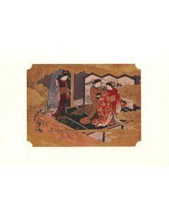 Holzschnitt Sukenobu Beauties