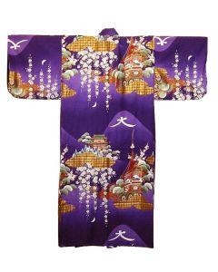 Damen Kimono Daimonji purple