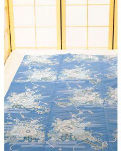 Bettbezug Blumen Japan, blau 200x220cm