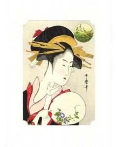 Holzschnitt Beauty Asagao von Utamaro