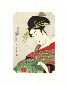 Holzschnitt Geisha Hanaohgi
