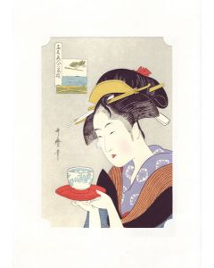 Holzschnitt Geisha Naniwaya Okita, Utamaro
