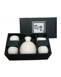 Sake Set Zen, weiß 5-tlg.