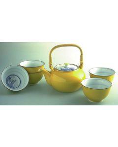 Teeset gelb Arita gelb handbemalt 6-teilig