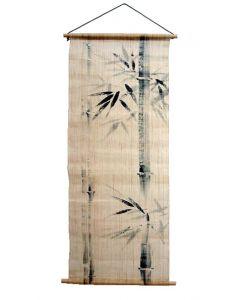 Rollbild Bambus auf Leinen
