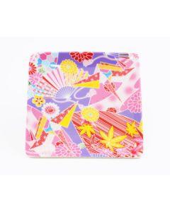 Teller Kimono violett-pink 12x12cm