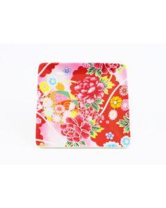 Teller Kimono rot 12x12cm