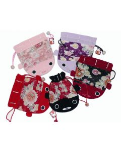 Kinchaku Chirimen Koi Karpfen pink