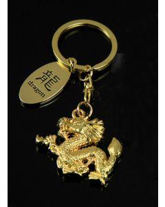 Schlüsselanhänger Dragon gold