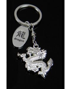 Schlüsselanhänger Dragon silber