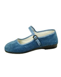Samtschuhe jeansblau Gr.35-42