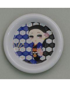 Kleiner Teller für Maiko schwarz - Unterteller für Teebecher