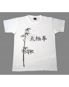 Taichi T-Shirt Tai Chi Bambus weiss