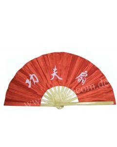 Tai Chi Fächer aus Bambus Kung Fu rot