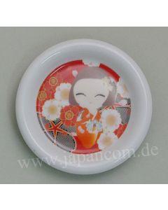 kleiner Teller Maiko rot - Unterteller für Teebecher