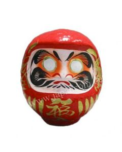 Daruma Puppe 15 cm rot - Japanischer Glücksbringer